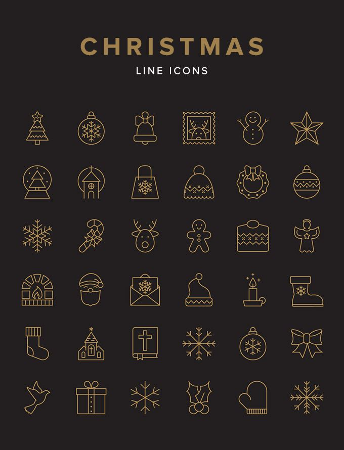 Christmas Line Icon Set — download free icons by PixelBuddha