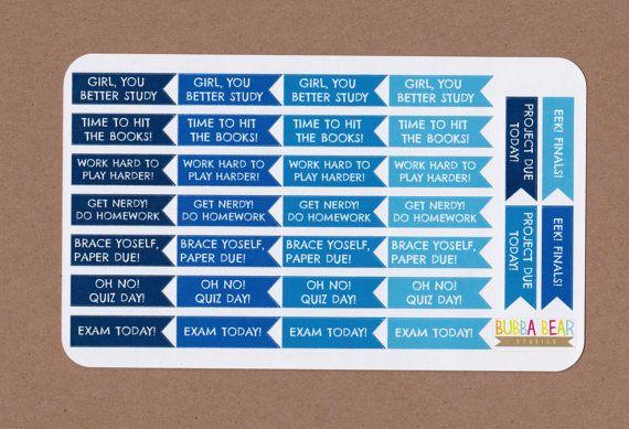 College Planner Sticker Academic Planner by BubbaBearStudios