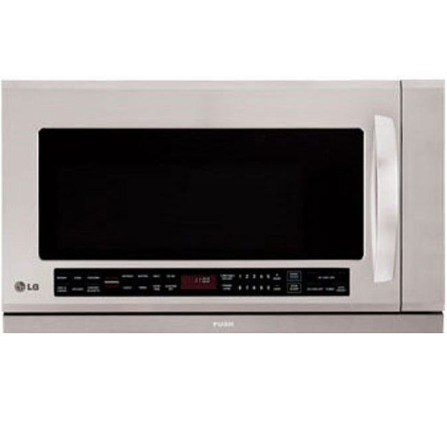 Perfect for cooking or reheating dinner, this over-the-range LG stainless-steel microwave makes a handy addition to your kitchen. This microwave features humidity-sensing technology to prevent overcooking and a warming lamp to keep food warm.