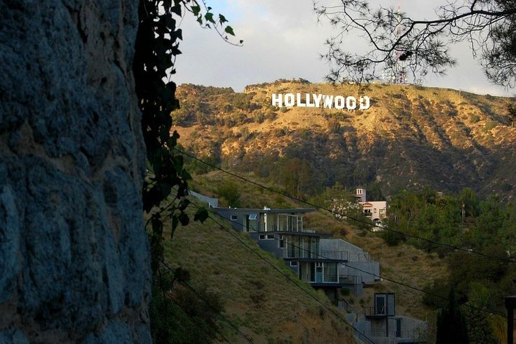 View of Hollywood sign from the Beachwood Canyon Stairs in LA