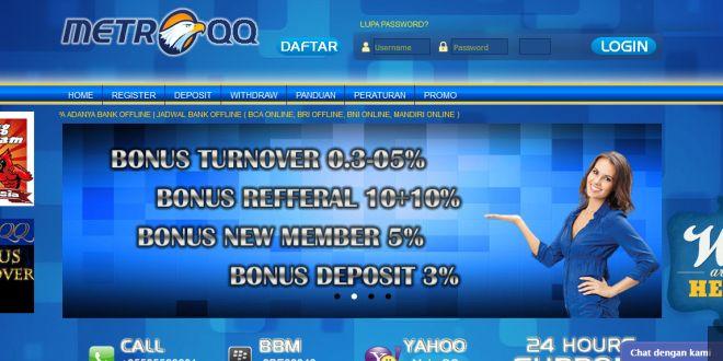 METROQQ – Agen Poker Online, DominoQQ Terpercaya