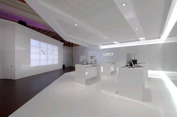 Seamless Video Wall For Vizio At Ces 2012 In Las Vegas, Nv. See