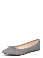 Womens Silver 'Penny' Niscos Ballerina Pumps- Silver