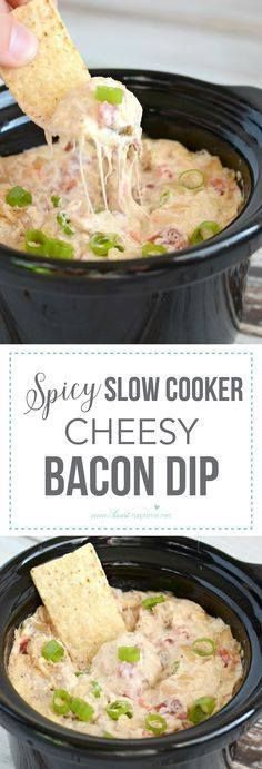 This Slow Cooker Che This Slow Cooker Cheesy Bacon Dip has just...  This Slow Cooker Che This Slow Cooker Cheesy Bacon Dip has just a bit of a kick and it is a simply delicious appetizer. A sure fire crowd-pleaser! Recipe : http://ift.tt/1hGiZgA And @ItsNutella  http://ift.tt/2v8iUYW