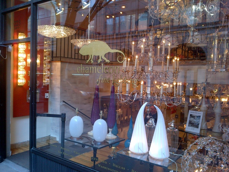 One of my favorite lighting stores in NY,  Chameleon Fine Lighting... John McGinn is amazing! He knows everything about everything! NYC.