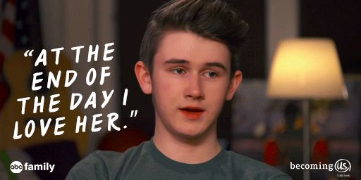 S1 Ep8 #AllTheTrimmings - Awwww, Ben! We ❤️ you. #BecomingUs