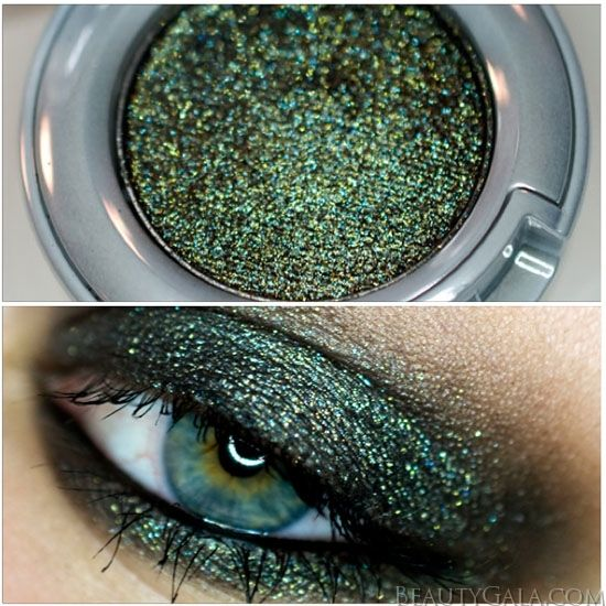 "Urban Decay Moondust Eyeshadow in ""Zodiac"" ~ I tested this stuff last well... looks amazing & I will be going back to get it!!!"