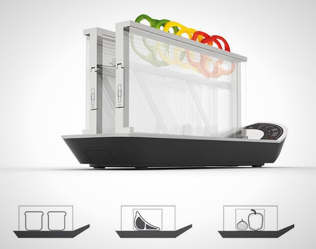 This high-tech toaster can cook shrimp and steak.