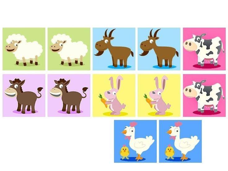çiftlik hayvanları hafıza kartları | Evimin Altın Topu