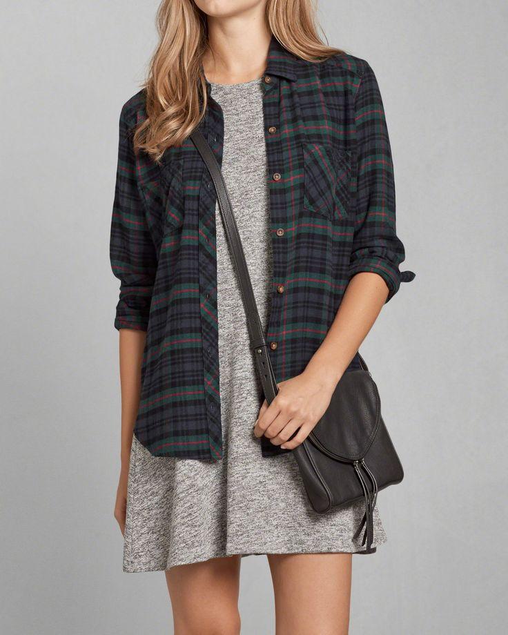 womens plaid flannel shirt womens tops abercrombiecom