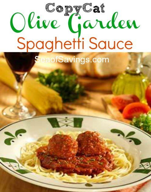 60 best olive garden recipes images on pinterest savory - Olive garden spaghetti and meatballs ...