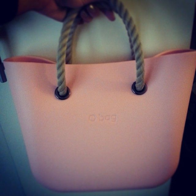 My pink Obag with natural rope handle