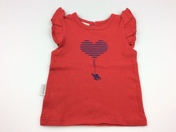SOOKI Baby, red flutter-sleeve t-shirt, good pre-loved condition (GUC), size 1, $8 #kidsfashion #babyfashion #girlsfashion #sookibaby