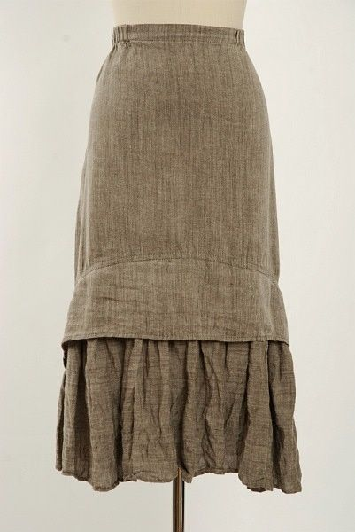 under skirt - linen skirt by Ivey Abitz