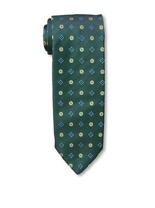 Massimo Bizzocchi Men's Floral Tie, Green