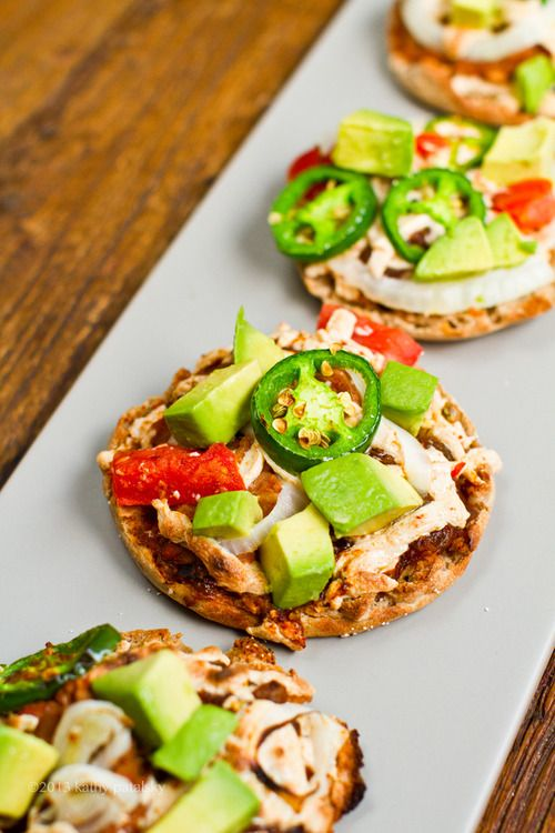 Vegan Mini Nacho Pizzas- healthy and delicious!