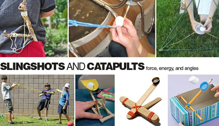 E is for Explore!: Slingshots and Catapults - lots of different designs