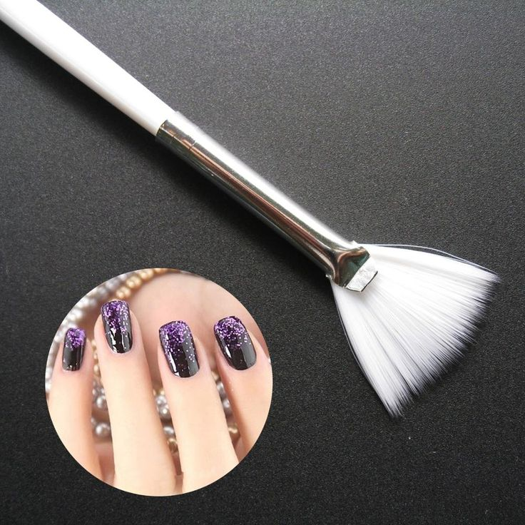 1Pcs Nail Art Pen Painting Drawing Brushes Fan SHape Design Professional Manicure Nails DIY Tools
