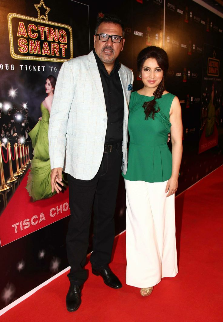 Tisca Chopra with Boman Irani at the success party of her book 'Acting Smart'. http://www.flipkart.com/acting-smart/p/itmdsu2jhtpsshmp?pid=9789351362036otracker=from-searchsrno=t_1query=acting+smart+by+tisca+chopraref=75af7a34-0e5c-4b73-8891-6c29cfaa72c4  http://www.amazon.com/Acting-Smart-Your-Ticket-Showbiz/dp/9351362035/ref=sr_1_1?ie=UTF8qid=1402991829sr=8-1keywords=acting+smart+by+tisca+chopra  The book's available on Flipkart and Amazon.