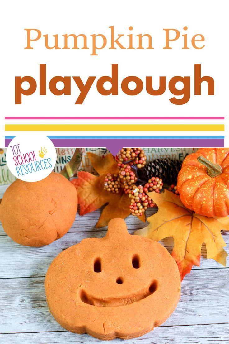 Easy Pumpkin Pie Scented Playdough (No Cook Recipe