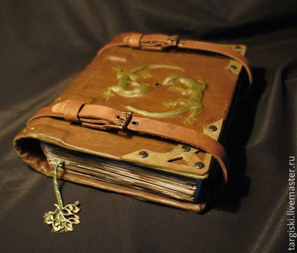 """Купить Книга теней """"Две ящерки"""" - коричневый, магия, колдовство, книга теней, гримуар"""