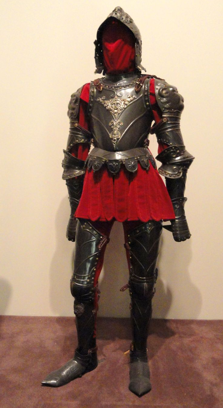 Composite ceremonial armor a la Romana, Italy, late 1500s or early 1600s with decoration from 1800s - Higgins Armory Museum