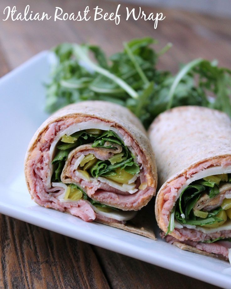 Italian Roast Beef Wrap. Thinly sliced roast beef, banana peppers, provolone cheese, and arugula brought together in a delicious low-calories wrap.
