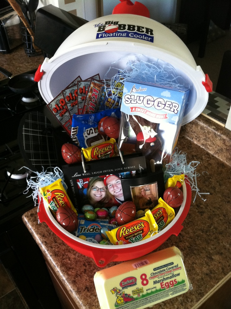 382 best his and her baskets images on pinterest gift ideas man easter basket ideafloating cooler not a bad idea since we need negle Choice Image
