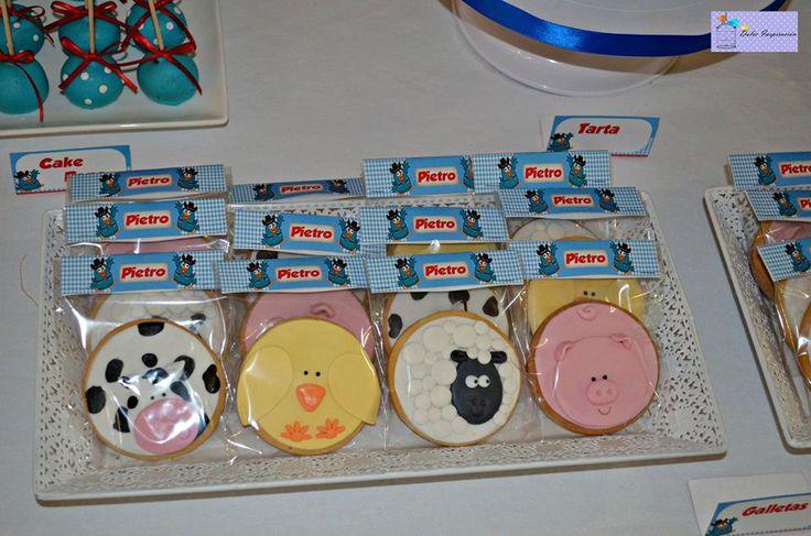 Los animalitos de la granja en forma de galletas ;)