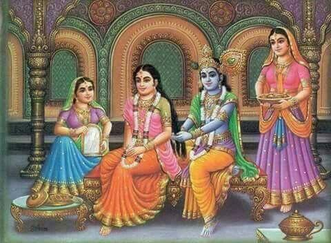 Radha Krishna and Gopis