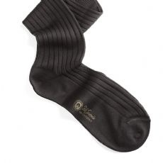 Cotton yarn socks ribbed Cotton - Dark grey
