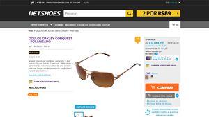 [Netshoes] Óculos Oakley Conquest - Polarizado - Feminino - 0888392072146 - de R$ 397,78 por R$ 384,90 (3% de desconto)
