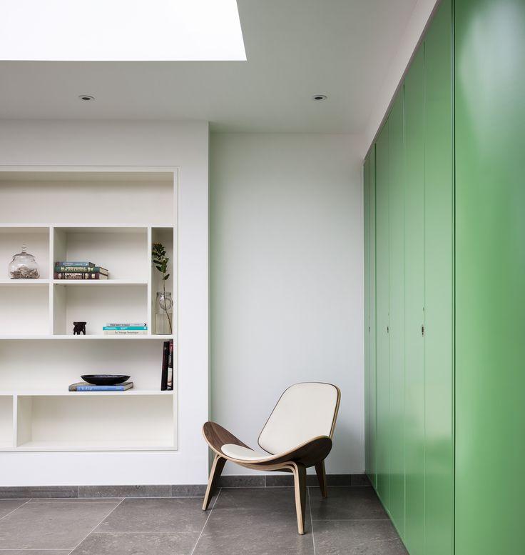 Dublin Residence Kitchen storage green