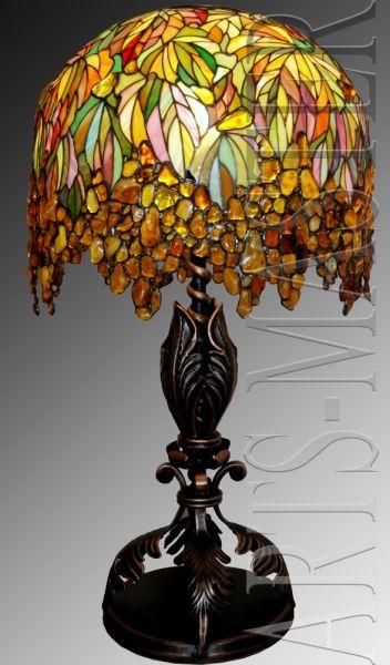 Лампа витражная настольная «Янтарная»