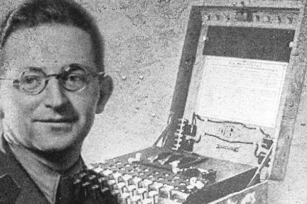 Medal za rozwikłanie zagadki Enigmy. Marian Rejewski one of the Polish team who cracked the Enigma code.