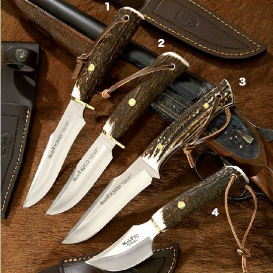 Muela knives, hunting knife, pointer-12AE. Includes sheath made of leather with safety closure