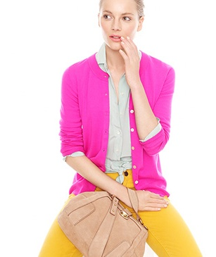 Cute, bright outfit from J.Crew.