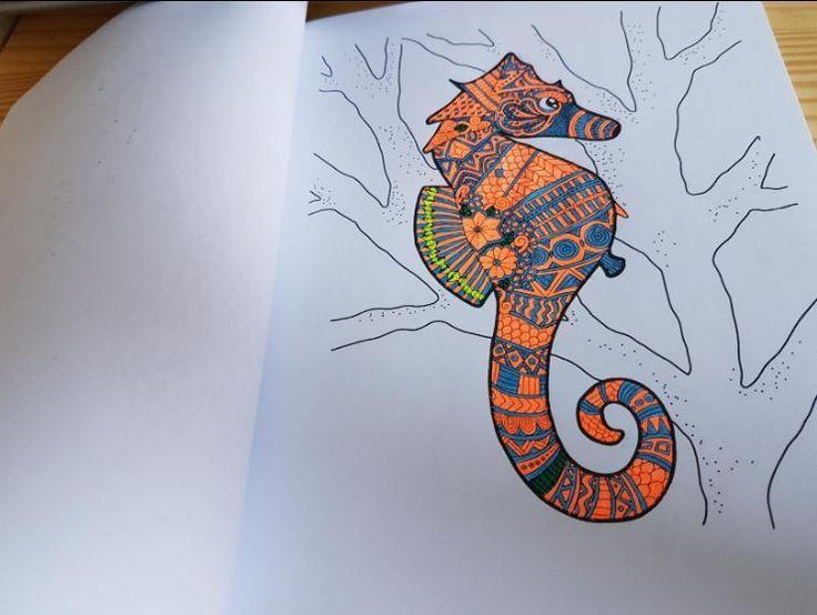 KOSTENLOS zum selber machen: Unterwasserwelt Malbuch für Erwachsene: Fische, Me