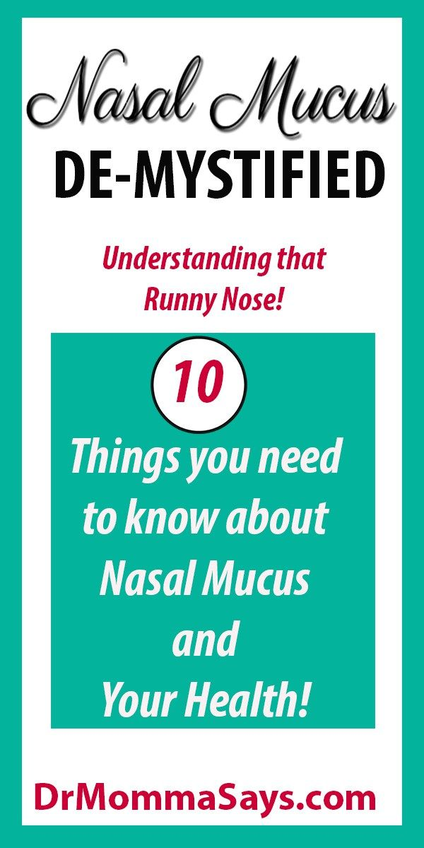Dr. Momma provides education about the function and purpose of nasal mucus and highlights what to do when mucus causes health concerns.