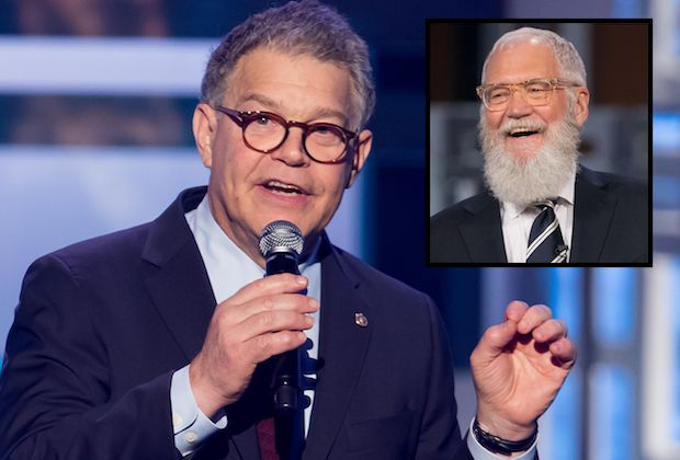 Al Franken Cut From PBS' Kennedy Center Tribute to David Letterman. If there was a Top 10 list of reasons to scrub a celebrity's appearance from an upcoming TV special, a sexual harassment scandal would surely come in at number one. Minnesota Sen. Al Franken has been edited out of PBS' David Letterman: The Mark Twain Prize television special | Yahoo
