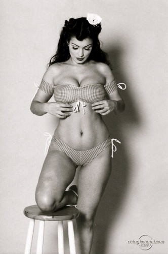 Pinup photography of a real woman with real curves