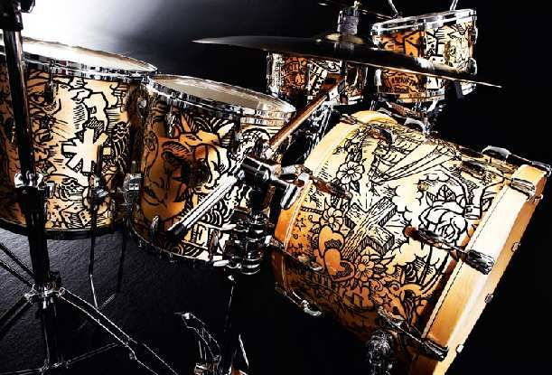 Chad Smith's (Red Hot Chili Pepper) Custom Pearl Drumset