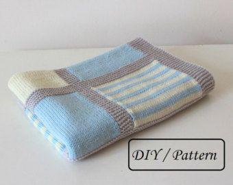 Punto bebé manta patrón tejer patrón manta del bebé por belovedLT