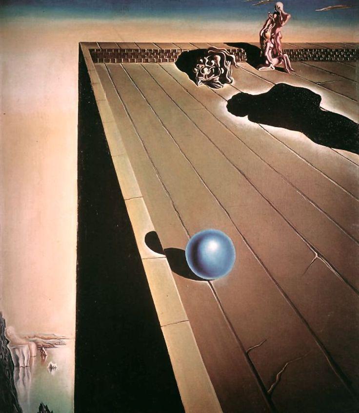 Vertigo, Oil by Salvador Dali (1904-1989, Spain)