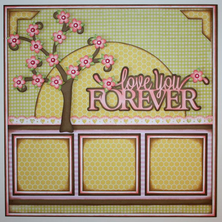 2 page scrapbook layout ideas this gorgeous cherry blossom tree is from the little scraps of - Scrapbooking idees pages ...