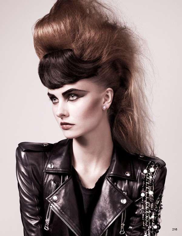 Banged Bouffants #hairstyles