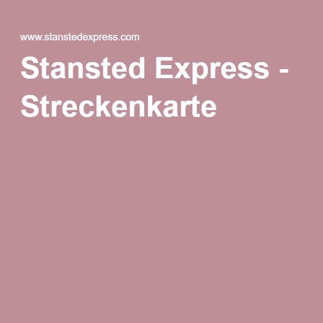 Stansted Express - Streckenkarte