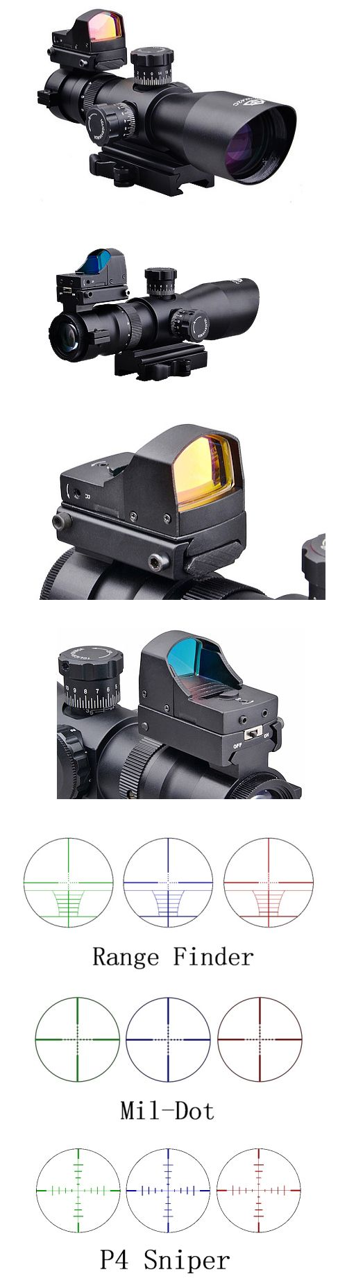 Trinity 39x42 Tactical Qd Scope + Backup Red Dot Sight Trinity 39x42