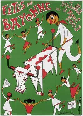 Affiche des fêtes de Bayonne en 2003