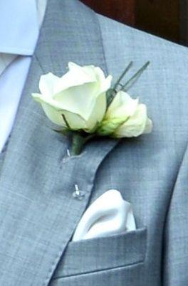 Ivory Avalanche Rose Buttonhole